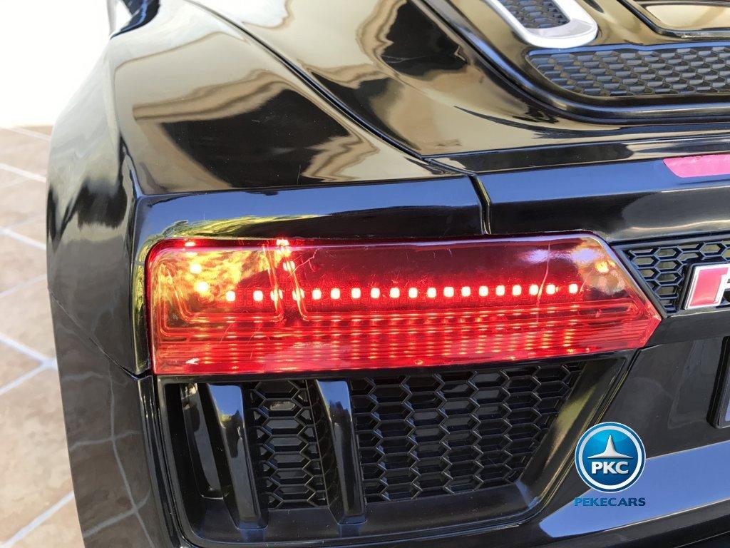 Coche electrico para niños Audi R8 Spyder Negro con luces traseras