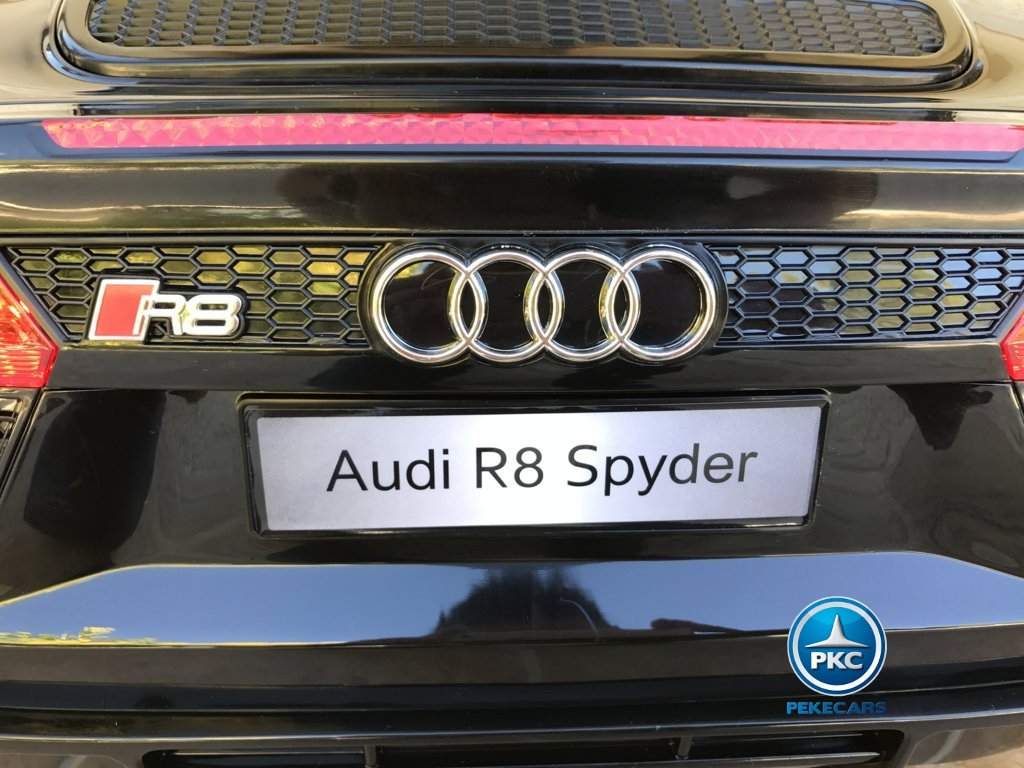 Coche electrico para niños Audi R8 Spyder Negro con licencia oficial