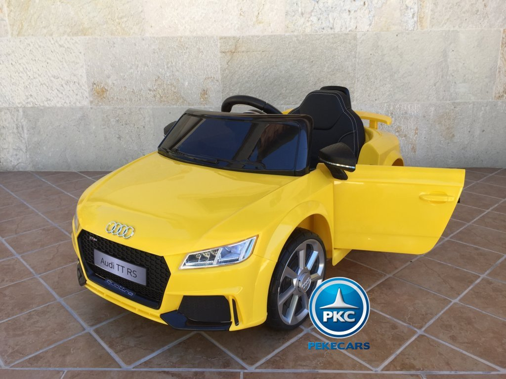 Coche electrico para niños Audi TT Amarillo vista principal
