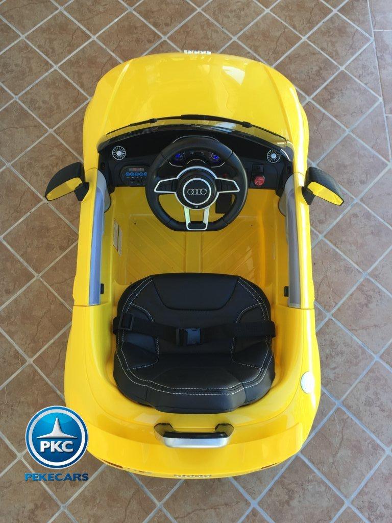 Coche electrico infantil Audi TT Amarillo interior