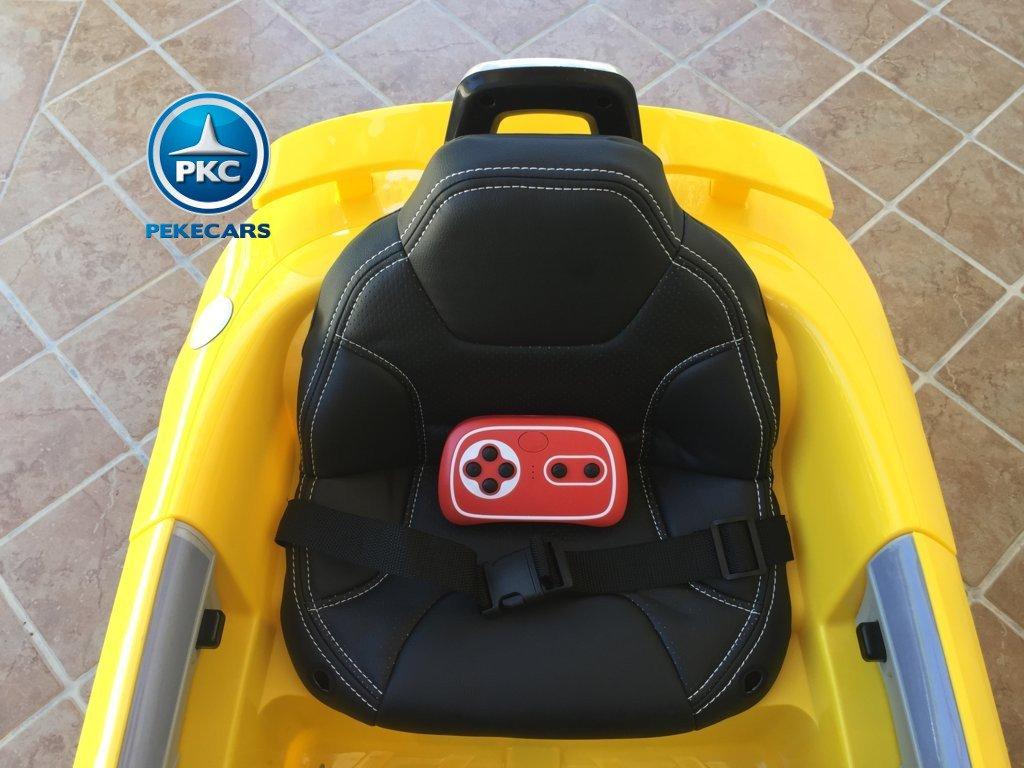 Coche electrico para niños Audi TT Amarillo con mando radiocontrol