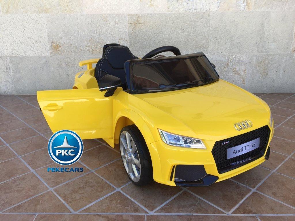 Coche electrico para niños Audi TT Amarillo hasta 4 años