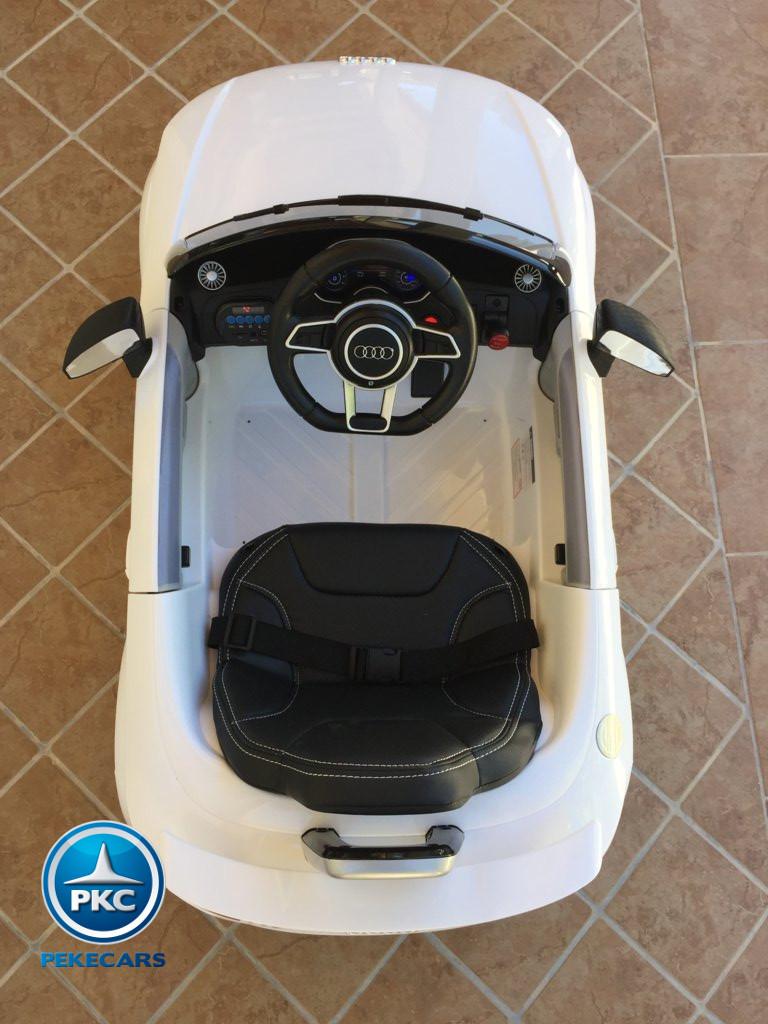 Coche electrico infantil Audi TT Blanco visto desde arriba