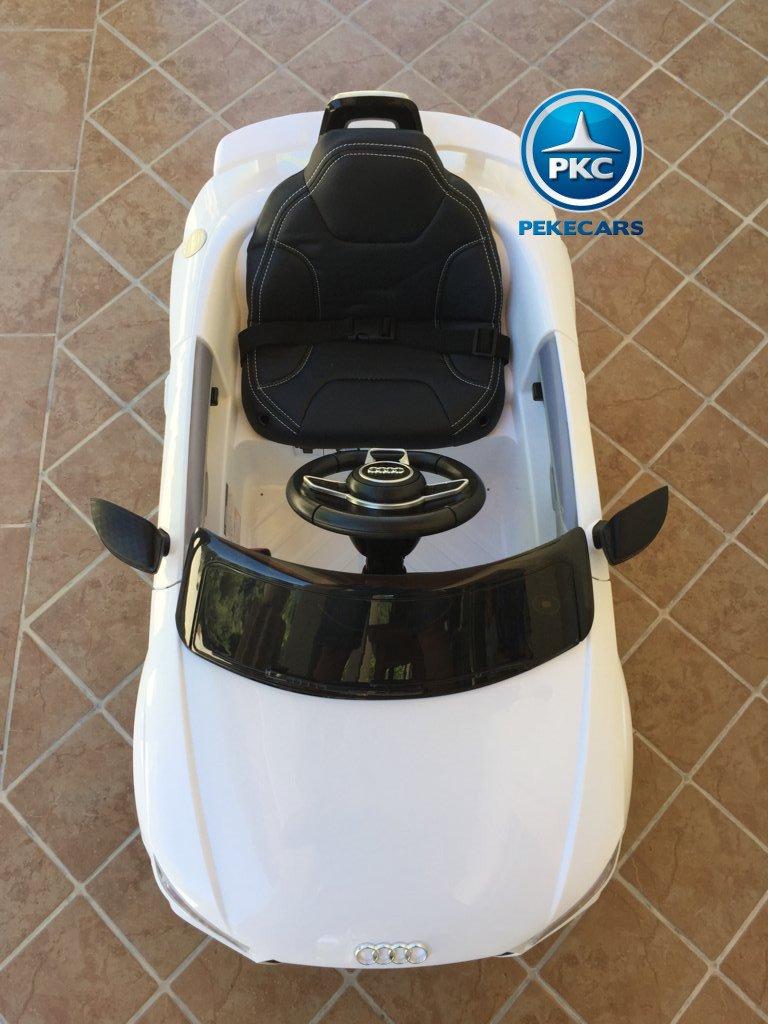 Coche electrico infantil Audi TT Blanco