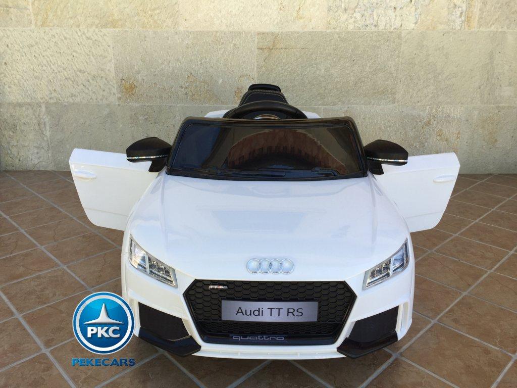 Coche electrico infantil Audi TT Blanco vista frontal