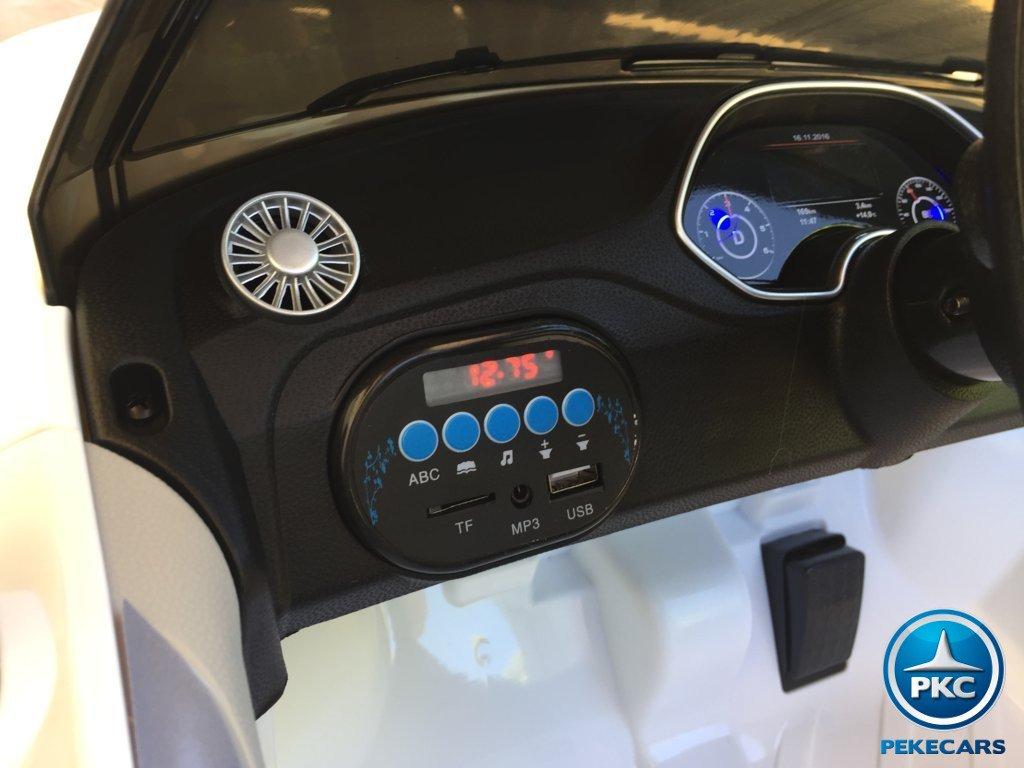Coche electrico infantil Audi TT Blanco con conexion USB
