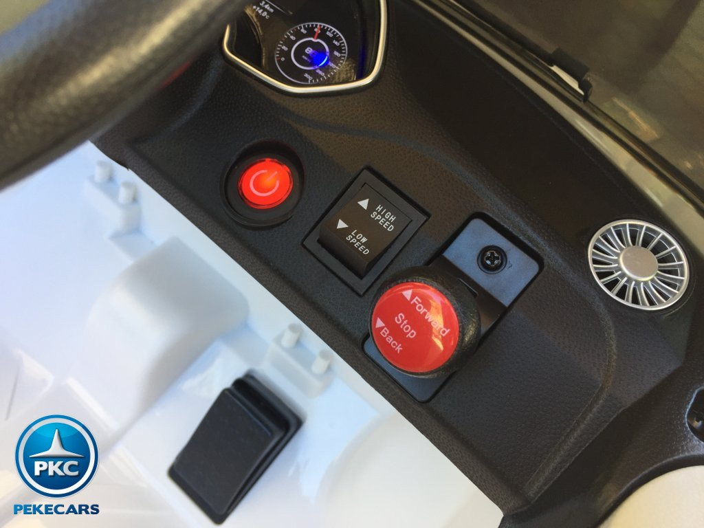 Coche electrico para niños Audi TT Blanco con boton de arranque