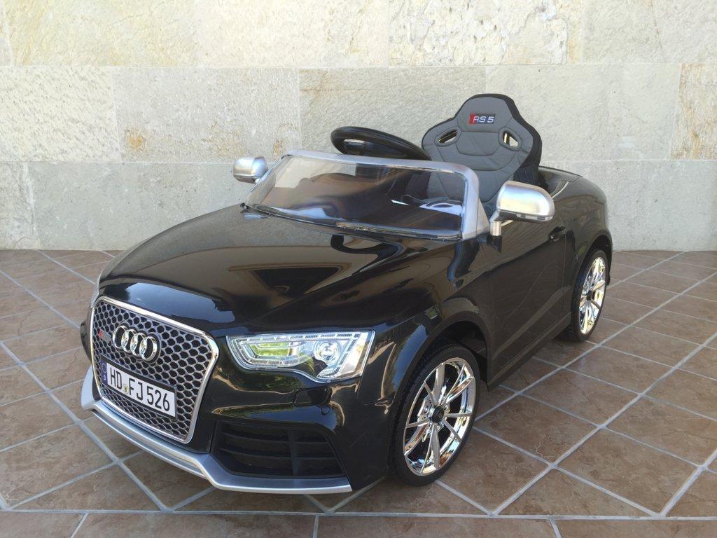 Audi rs5 negro 12v para niños Pekecars