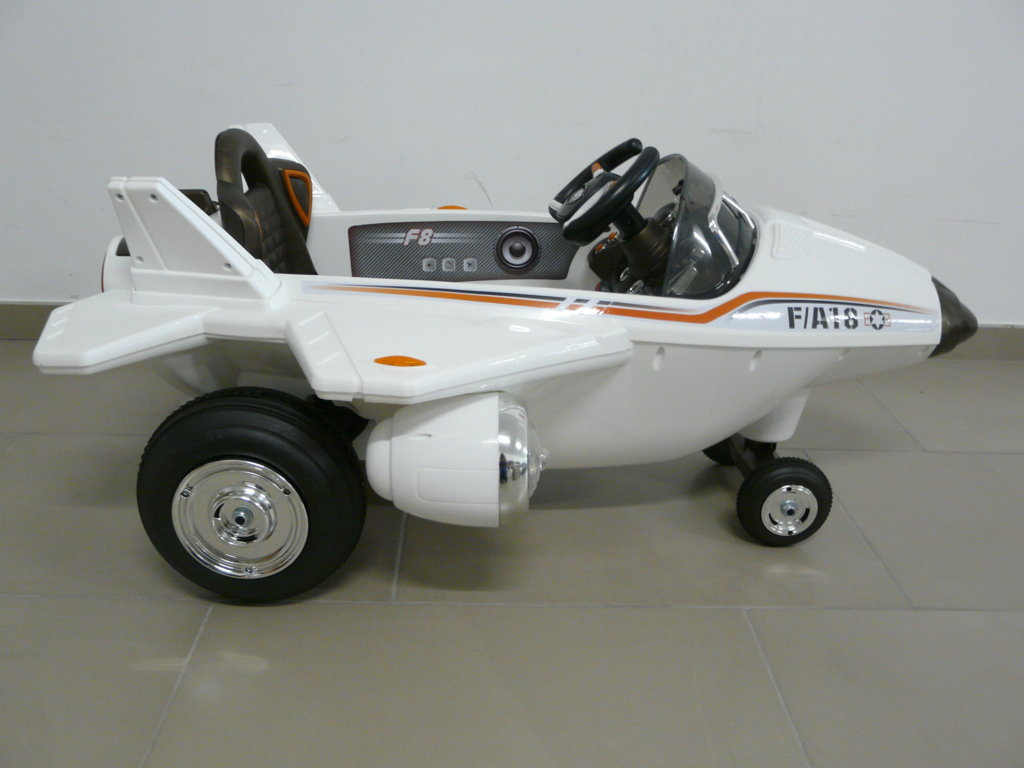 Avión infantil F-18 Blanco vista lateral