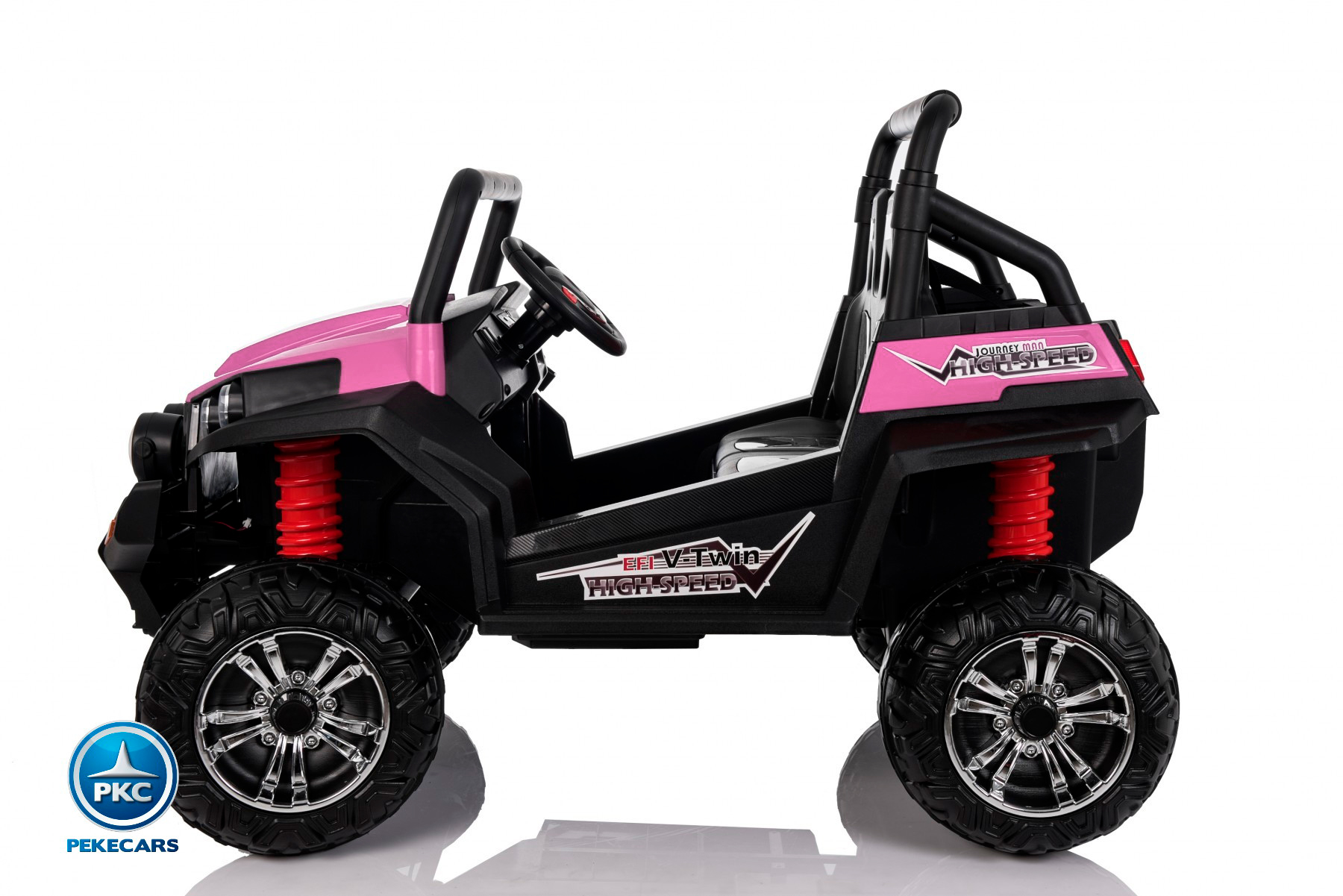 Todoterreno Infantil Beach Buggy 12V 2.4G Rosa lateral