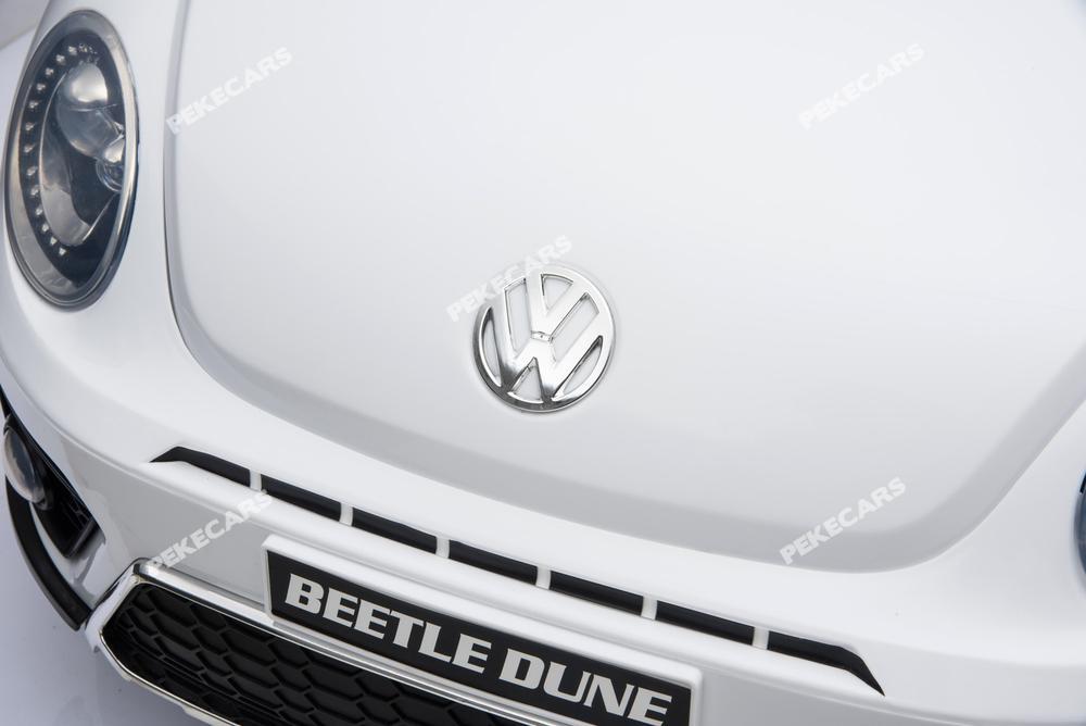 Coche electrico para niños Beetle Dune Blanco capó clásico