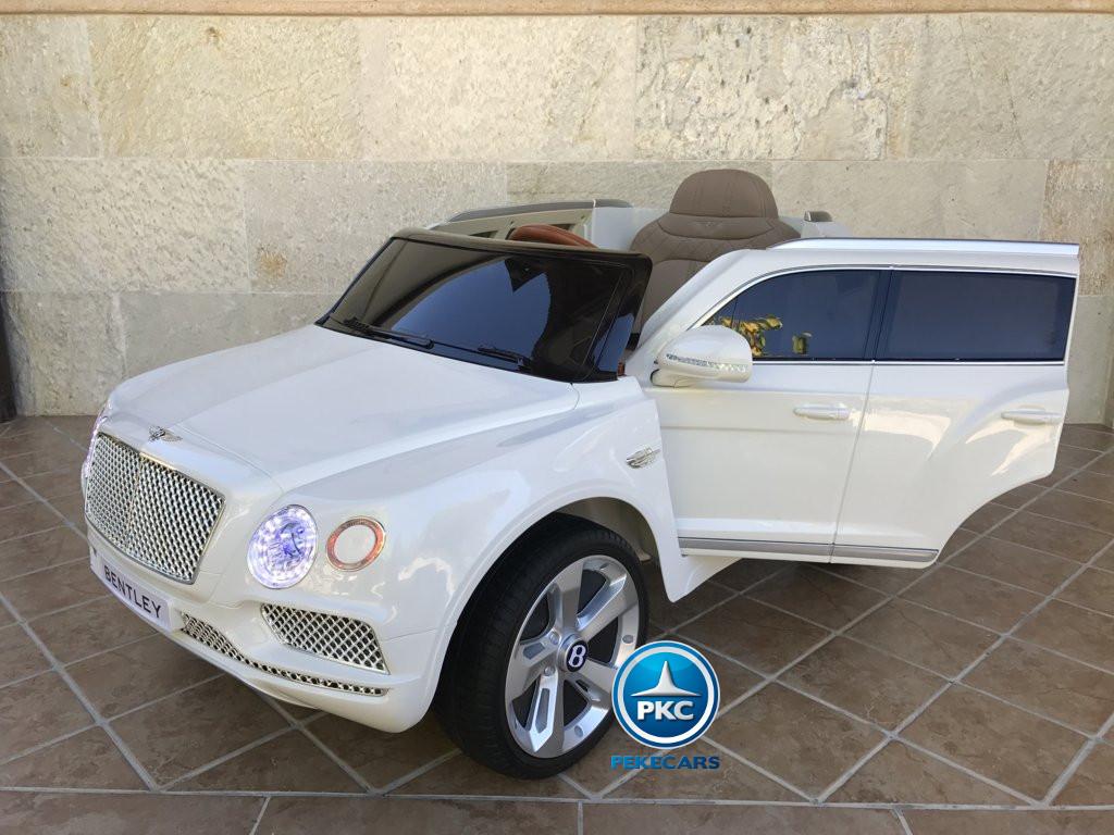Coche electrico infantil Bentley Bentayga Blanco vista principal