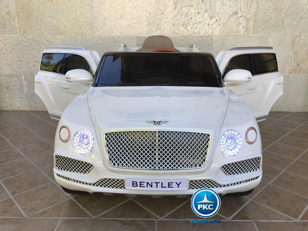 Coche electrico para niños Bentley Bentayga Blanco vista frontal