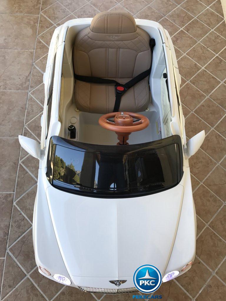 Coche electrico infantil Bentley Bentayga Blanco visto desde arriba