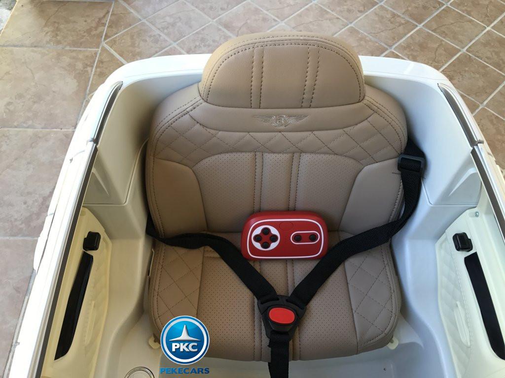 Coche electrico para niños Bentley Bentayga Blanco con mando 2.4G