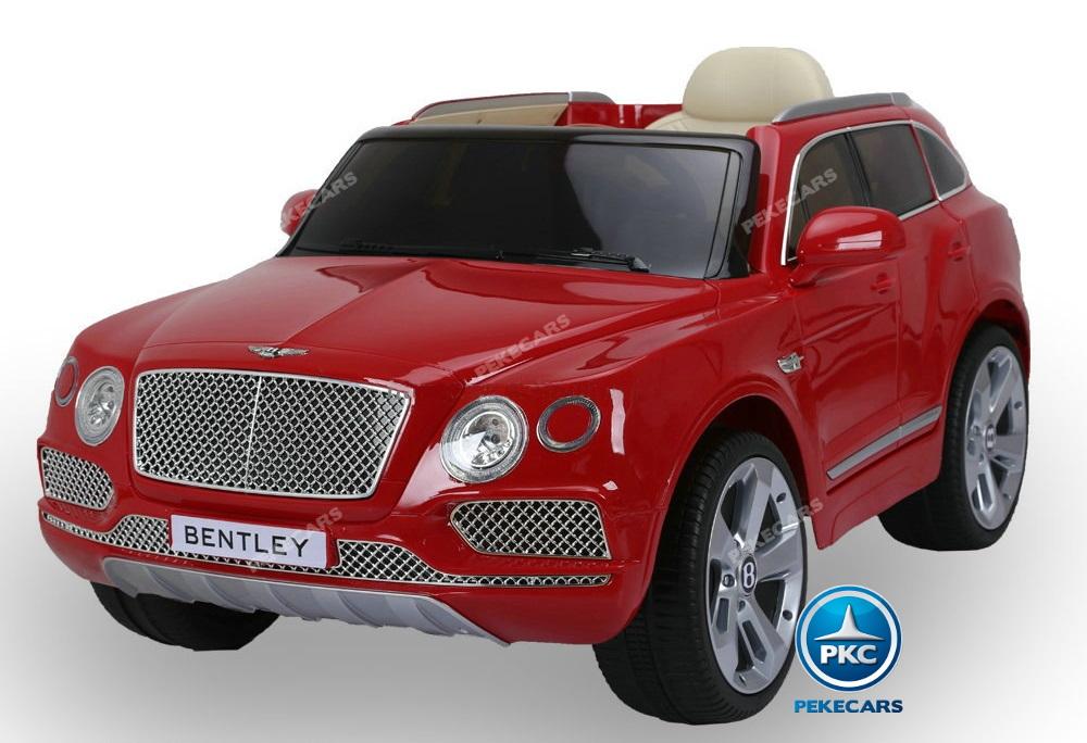 Coche electrico para niños Bentley Bentayga Rojo vista frontal