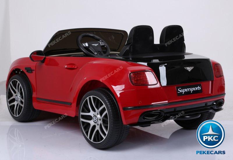 Coche electrico infantil Bentley Continental Supersports 12V Rojo con apertura de puertas