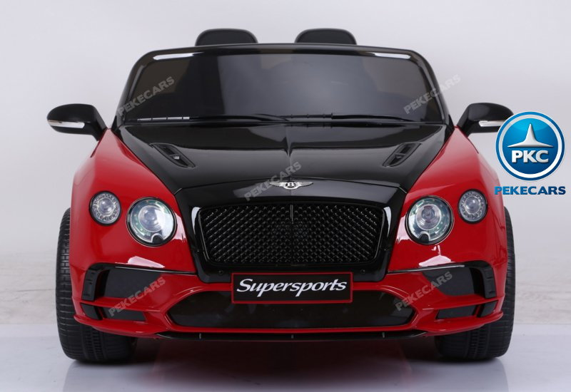 Coche electrico para niños Bentley Continental Supersports 12V Rojo vista frontal