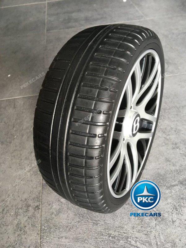 Coche electrico infantil Bentley Continental Supersports 12V Rojo con ruedas de caucho antipinchazos