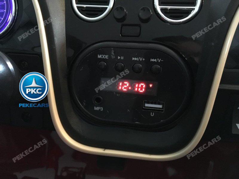 Coche electrico para niños Bentley Continental Supersports 12V Rosa Metalizado con conexión USB