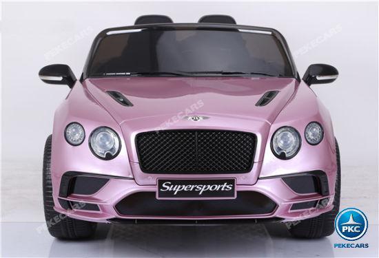 Coche electrico infantil Bentley Continental Supersports 12V Rosa Metalizado vista trasera