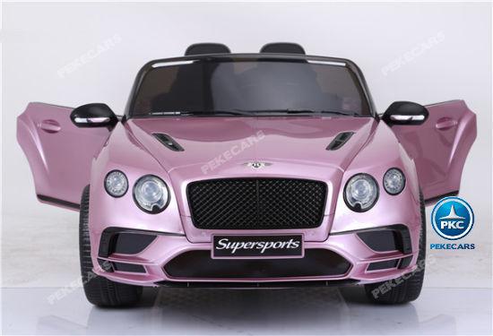 Coche electrico para niños Bentley Continental Supersports 12V Rosa Metalizado con apertura de puertas