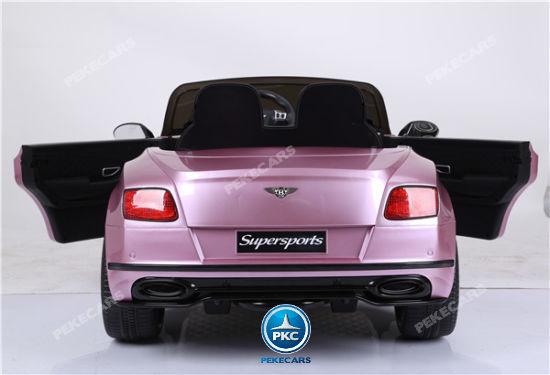 Coche electrico para niños Bentley Continental Supersports 12V Rosa Metalizado vista trasera
