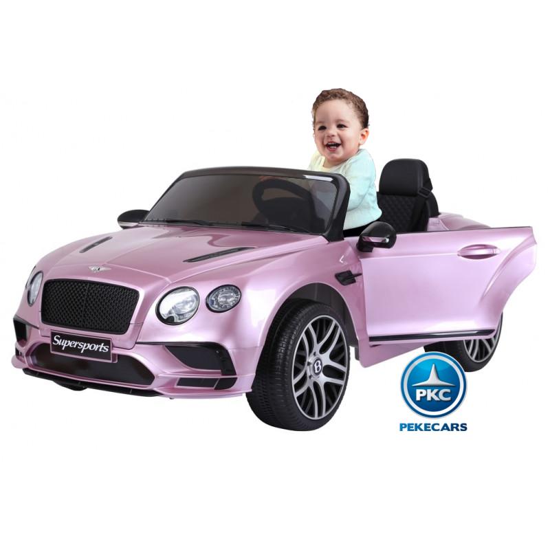 Coche electrico para niños Bentley Continental Supersports 12V Rosa Metalizado Vista principal