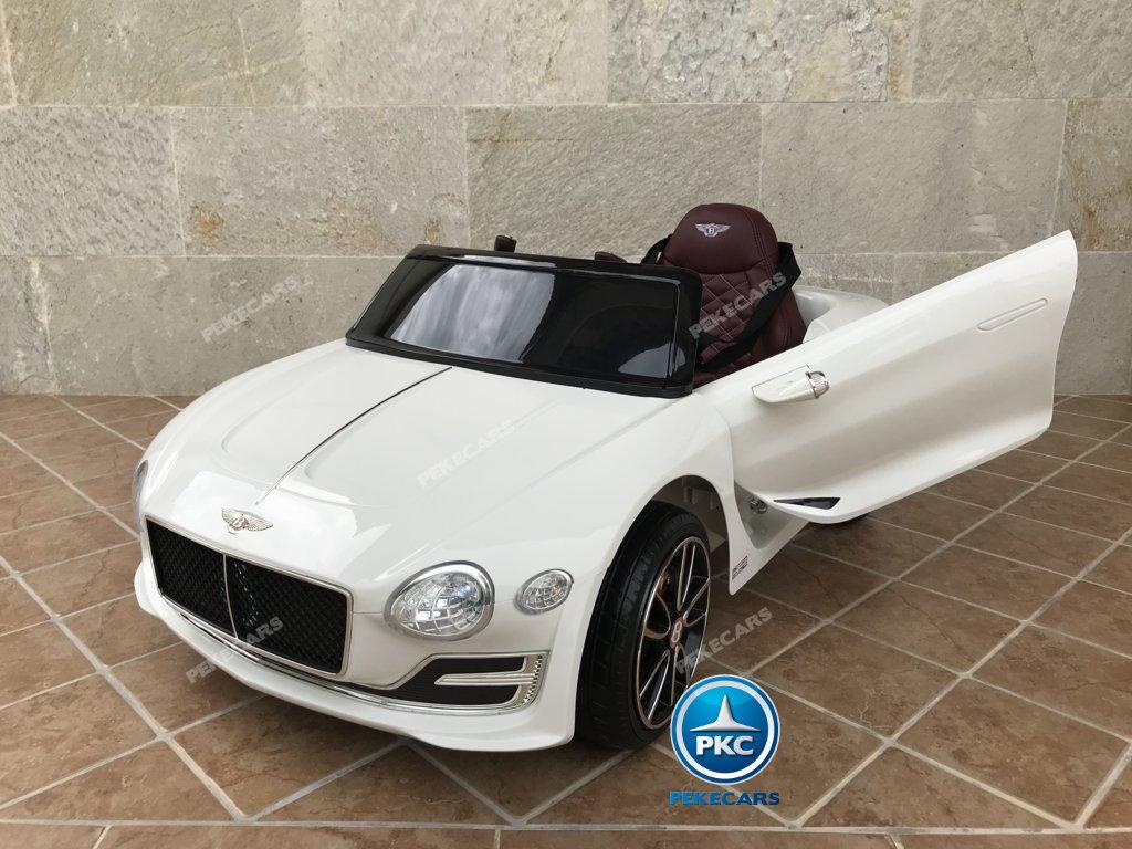 Coche electrico para niños Bentley EXP Blanco vista principal