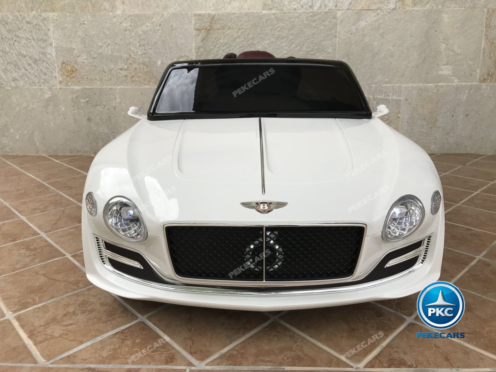 Coche electrico infantil Bentley EXP Blanco vista frontal