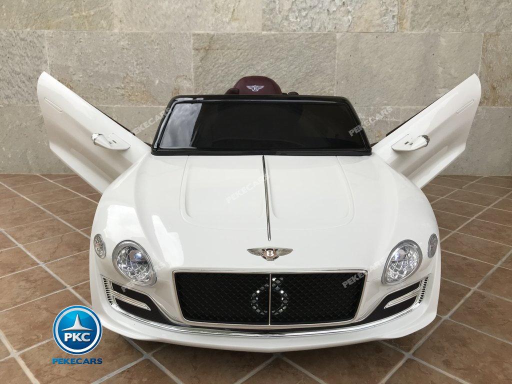 Coche electrico para niños Bentley EXP Blanco con apertura de puertas