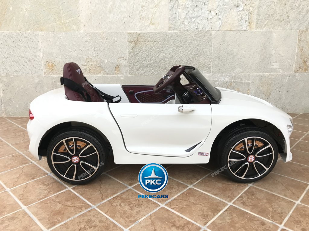 Coche electrico para niños Bentley EXP Blanco vista lateral