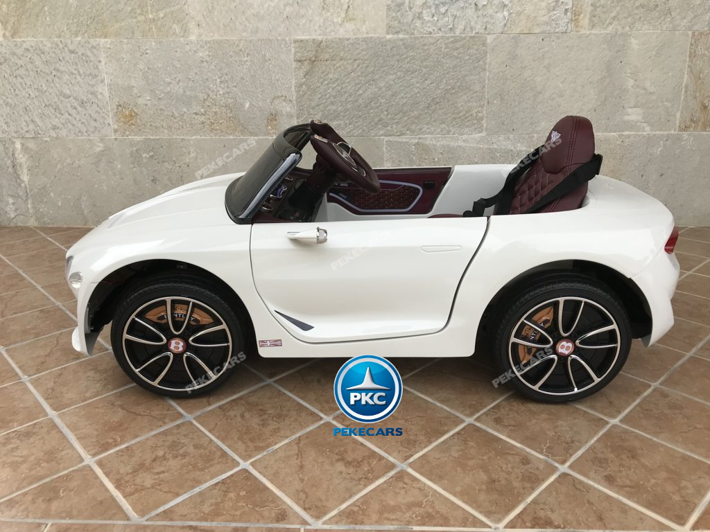 Coche electrico para niños Bentley EXP Blanco con luces LED