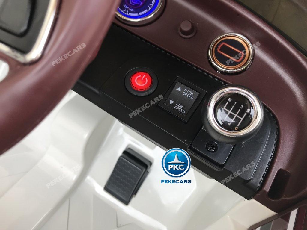 Coche electrico infantil Bentley EXP Blanco con botón de arranque