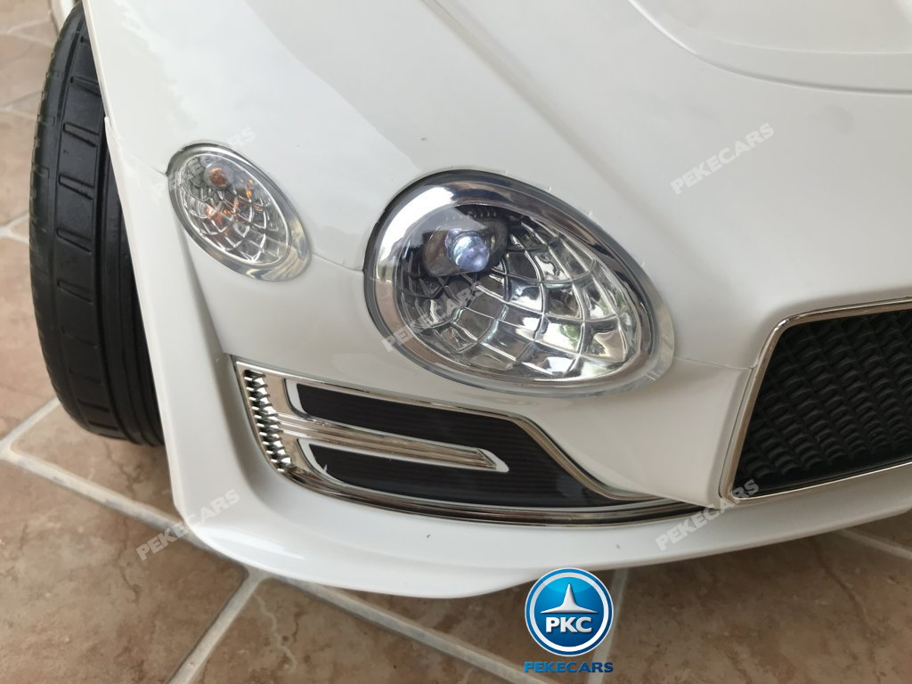 Coche electrico para niños Bentley EXP Blanco luces LED frontales