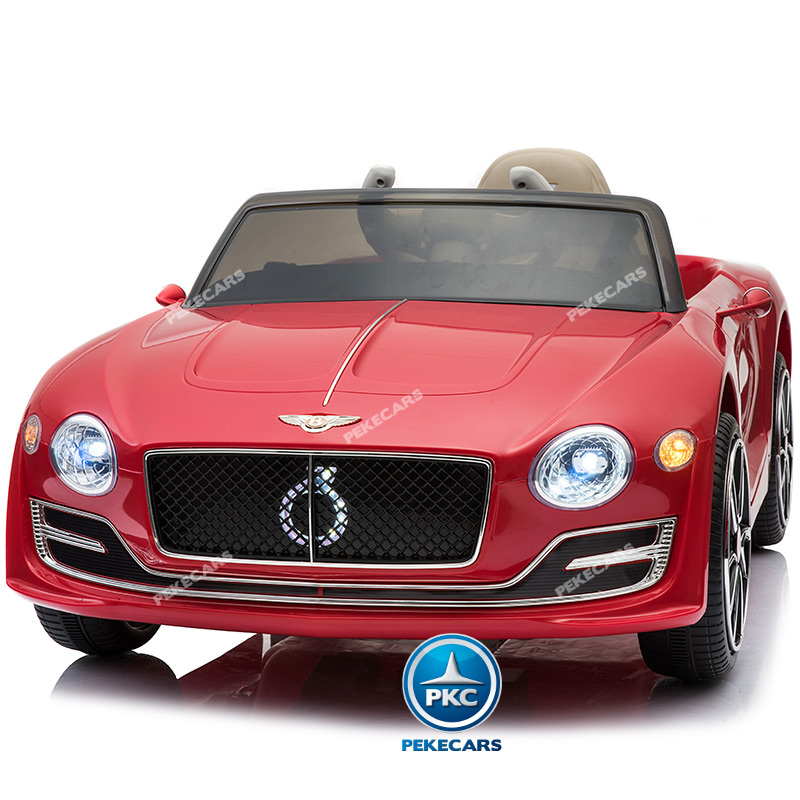 Coche electrico infantil Bentley EXP Rojo vista frontal