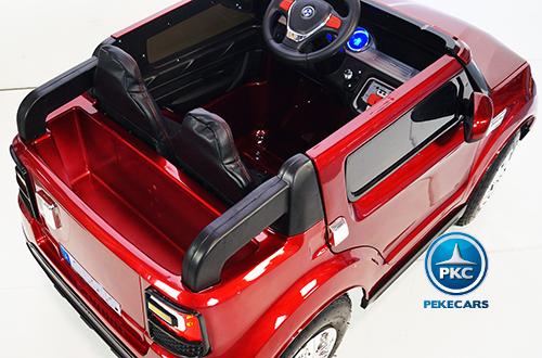 Coche electrico para niños bmw x5 style Burdeos Metalizado detalles del interior