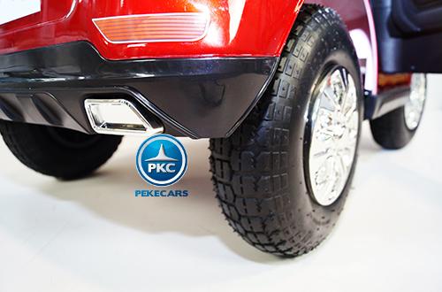 Coche electrico para niños bmw x5 style Burdeos Metalizado con ruedas neumáticas