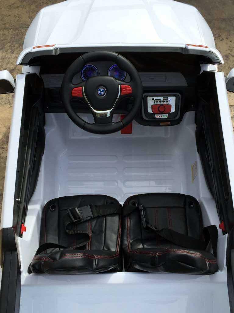 Coche electrico para niños bmw x5 style Blanco con ruedas neumáticas