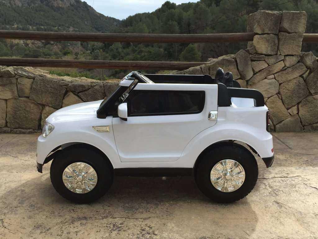Coche electrico infantil bmw x5 style Blanco con apertura de puertas