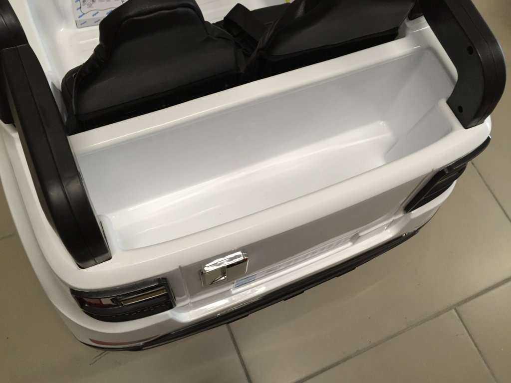 Coche electrico para niños bmw x5 style Blanco detalles del interior