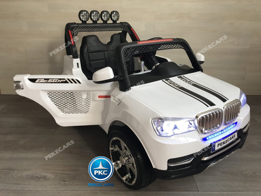 Coche electrico para niños BMW X7 Style 12V Blanco vista principal