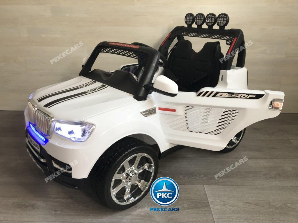 Coche electrico para niños BMW X7 Style 12V Blanco con apertura de puertas