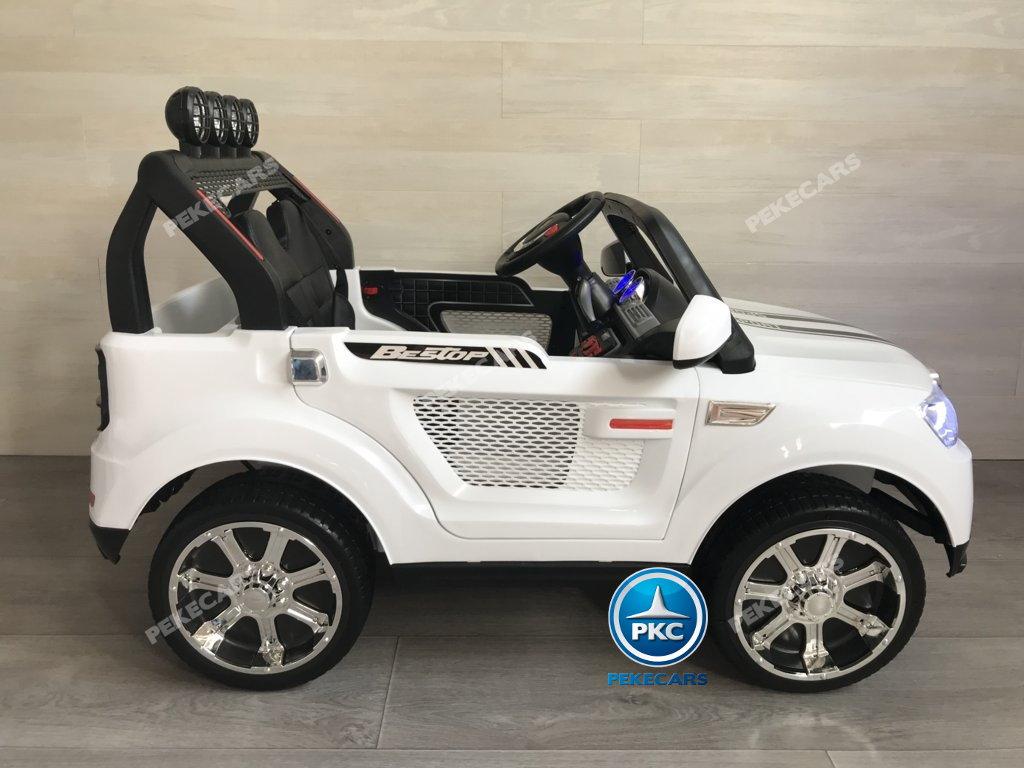 Coche electrico infantil BMW X7 Style 12V Blanco con barra antivuelco