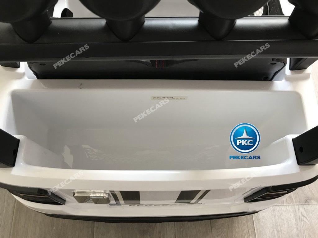 Coche electrico para niños BMW X7 Style 12V Blanco con amplio maletero