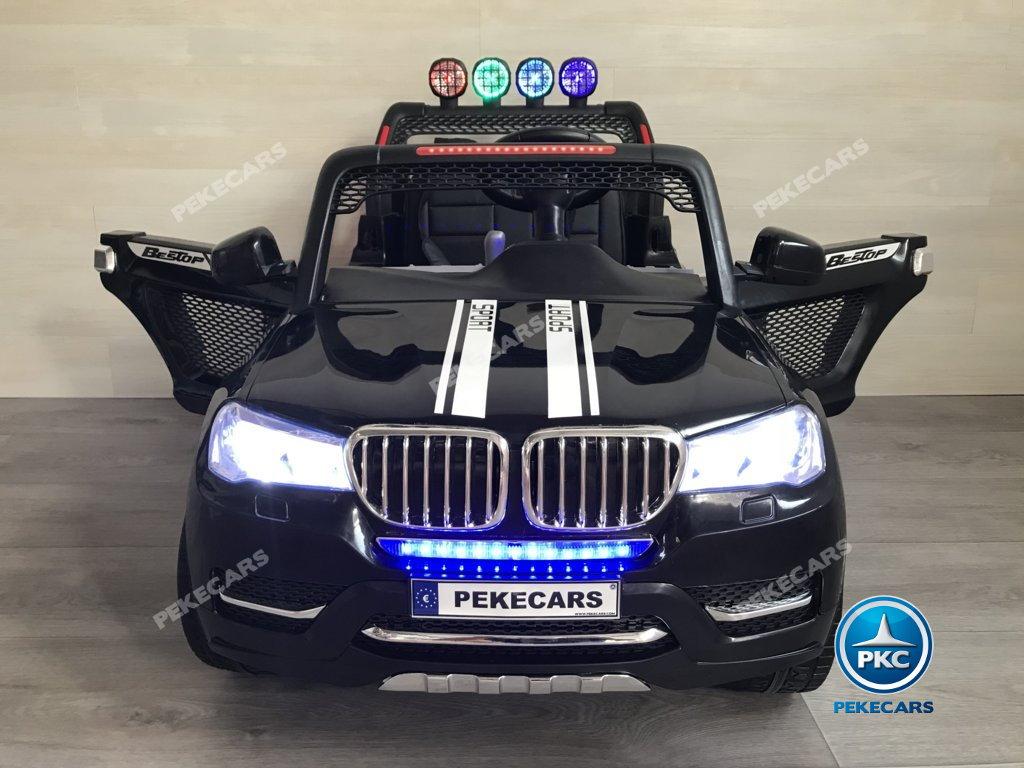 Coche electrico infantil BMW X7 Style 12V Negro vista frontal