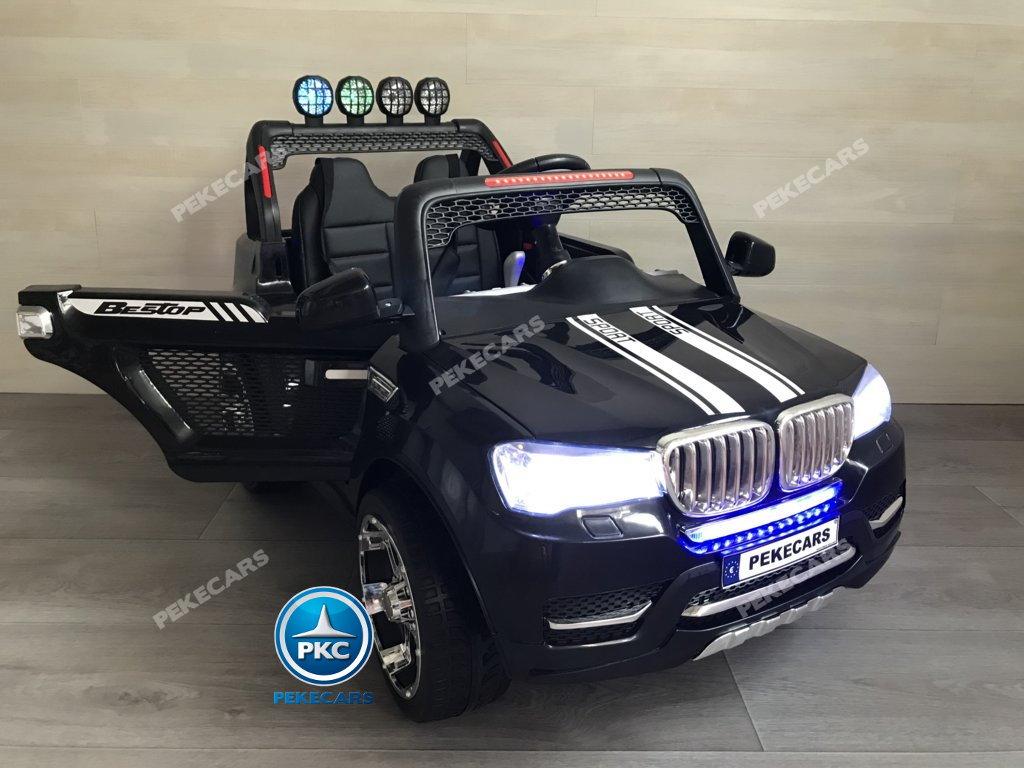 Coche electrico para niños BMW X7 Style 12V Negro con apertura de puertas