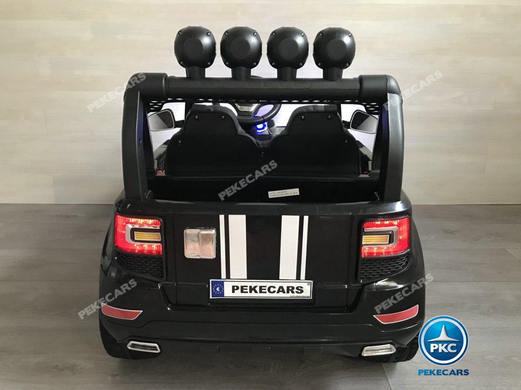 Coche electrico para niños BMW X7 Style 12V Negro vista trasera