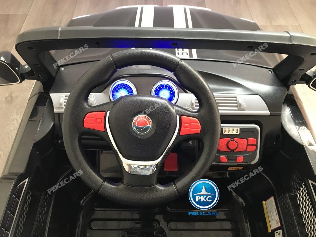 Coche electrico para niños BMW X7 Style 12V Negro voltante con claxon y musica