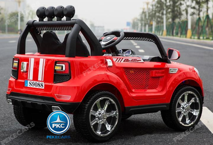 Coche electrico infantil BMW X7 Style 12V Rojo vista frontal